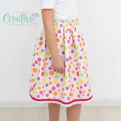 This reversible skirt is gorgeous, quick and crazy easy to make