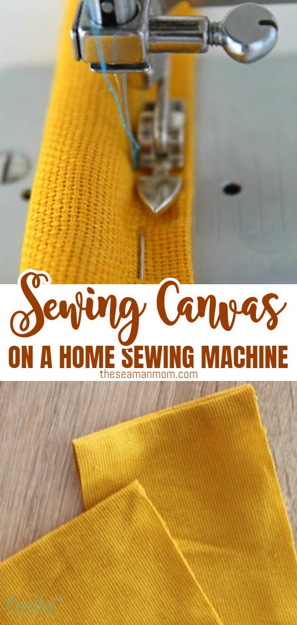 Follow these simple, easy tips for sewing canvas, and you'll soon be able to successfully make any fun projects that require canvas, for you and your home! via @petroneagu