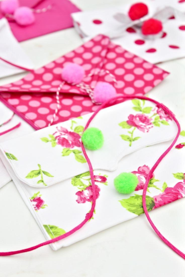 Valentine fabric envelopes