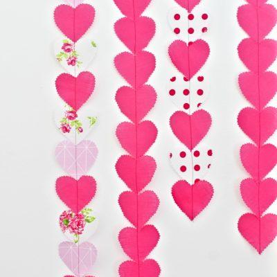 Valentine Heart Garland Sewing Tutorial