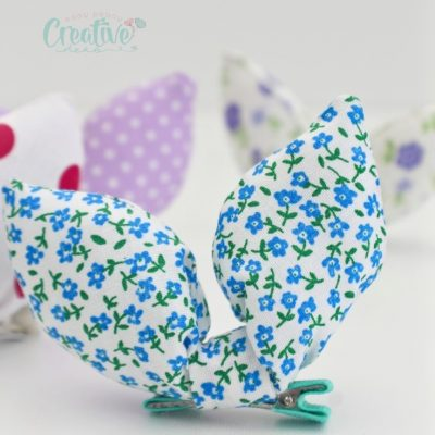You need to sew this stunning and easy bunny hair clip now