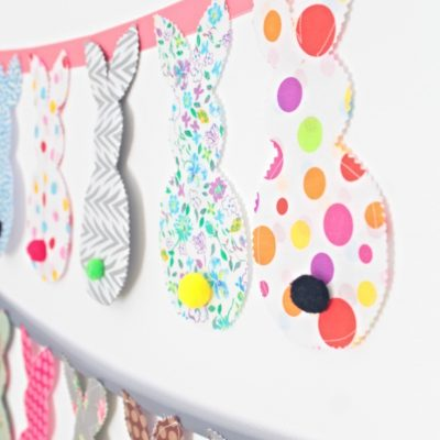 Adorable easy and quick bunny banner you need to sew today