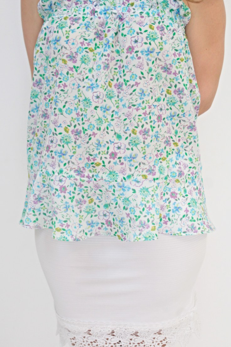 Gathered top camisole