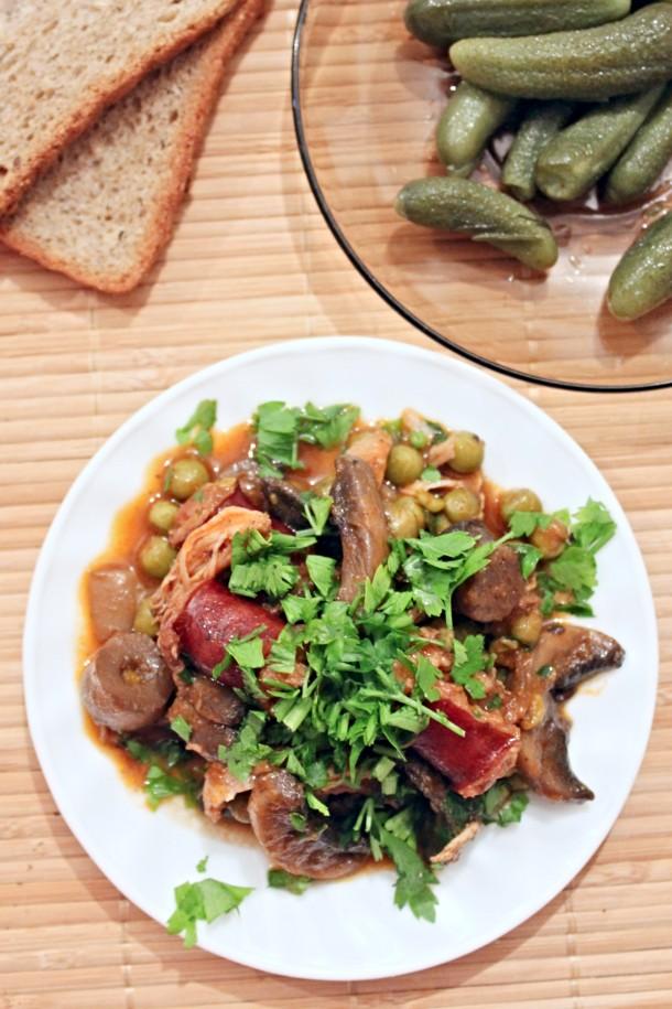 Peas and mushroom recipe