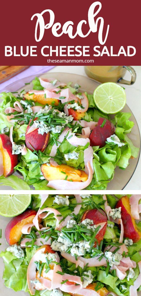 Peach blue cheese salad