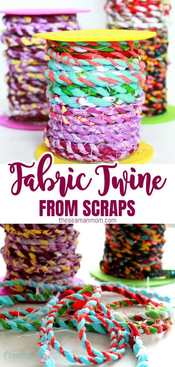 Do you happen to have too many fabric scraps in your stash? Or maybe you're looking for scrap fabric projects to make simply because those are so much fun and enjoyable! Clean up your basket and put all those beloved scraps to a good use with this delightful tutorial on making fabric twine! via @petroneagu