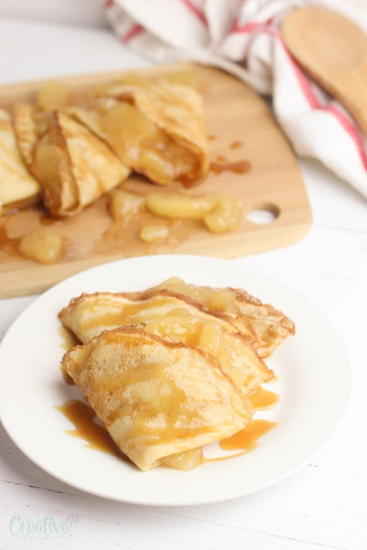 Apple crepes recipe