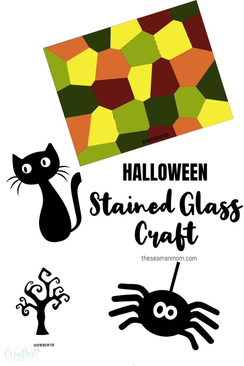 Halloween stained glass