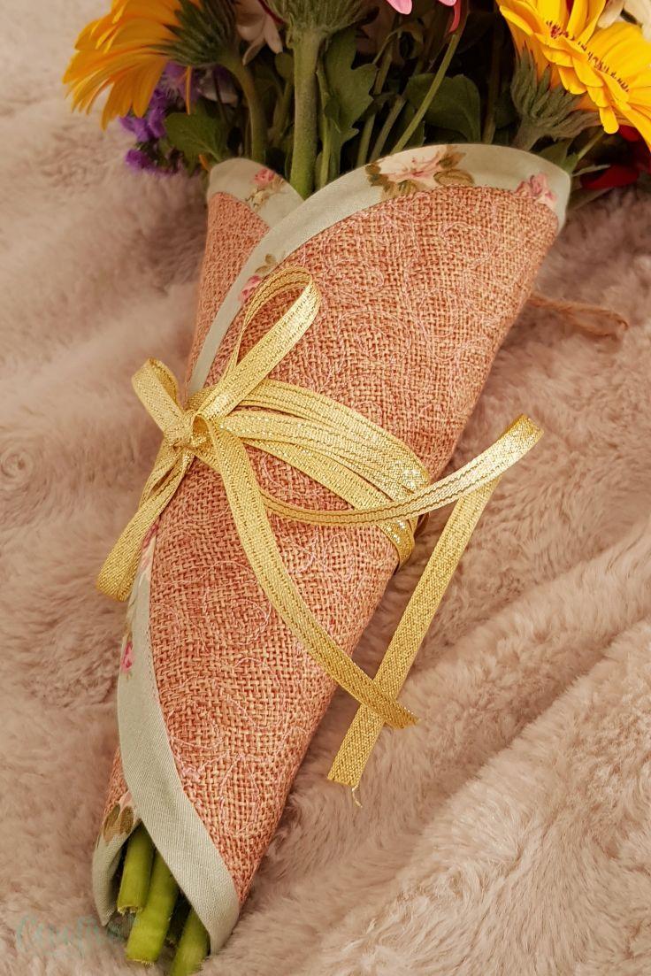 DIY fabric cone