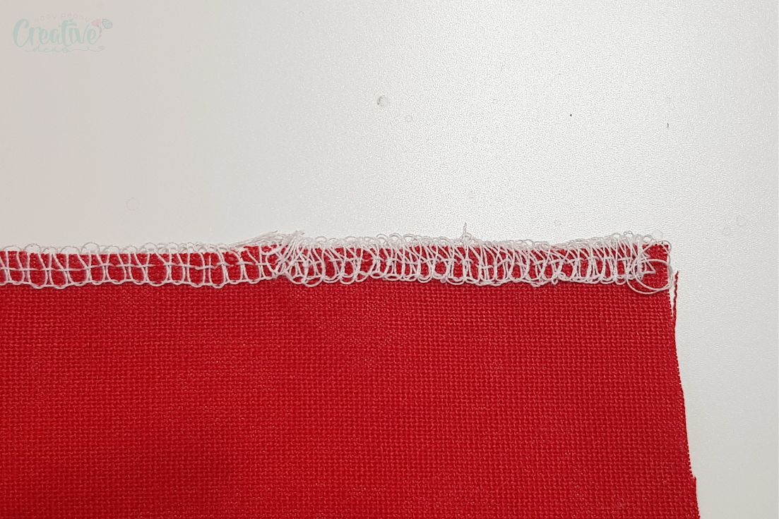 Finishing off serger tails