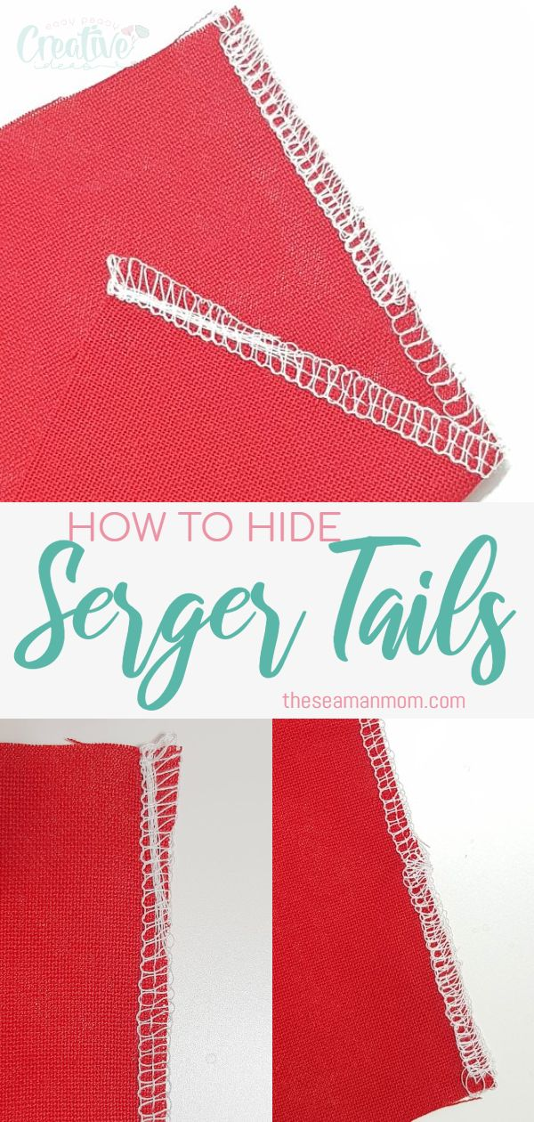 Hiding serger tails seems like a dreadful task for you? Here's you'll learn how to hide serger tails with a super easy method! This way your garments will look finished and professional and your serger tails will never unravel! via @petroneagu