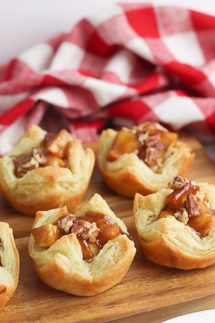 Mini apple pies in muffin tins