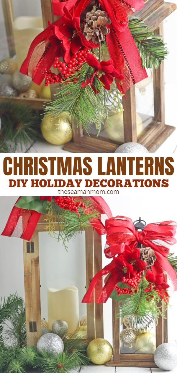If basic Christmas decorations are not your cup of tea, then it's time to add some DIY Christmas lanterns to your holiday display! Use them as outdoor Christmas lanterns to light up your yard or front porch or as Christmas lantern centerpieces! via @petroneagu