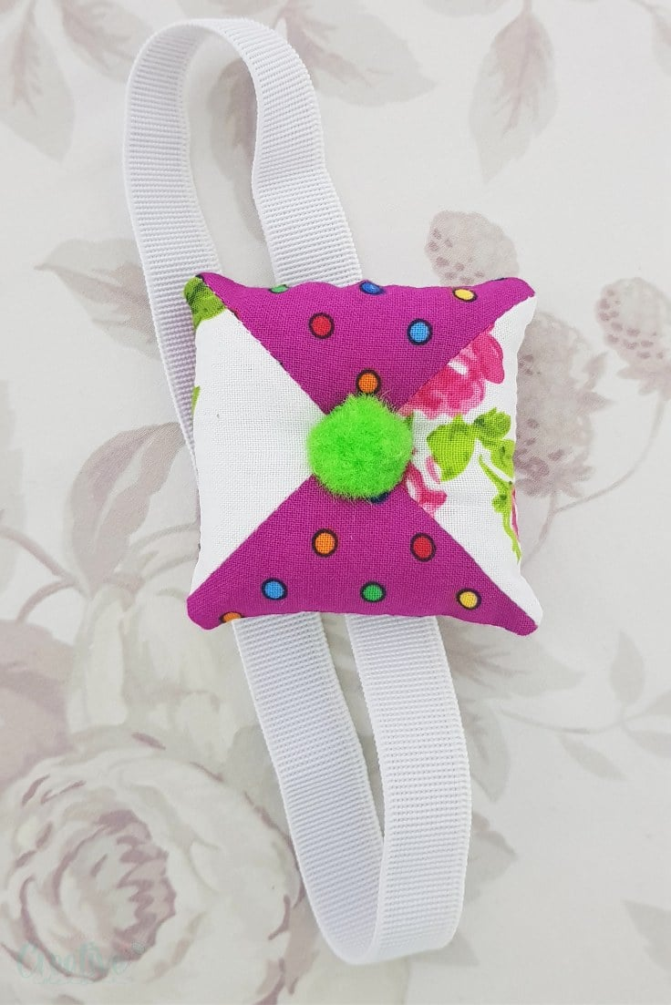 Half square triangle pincushion