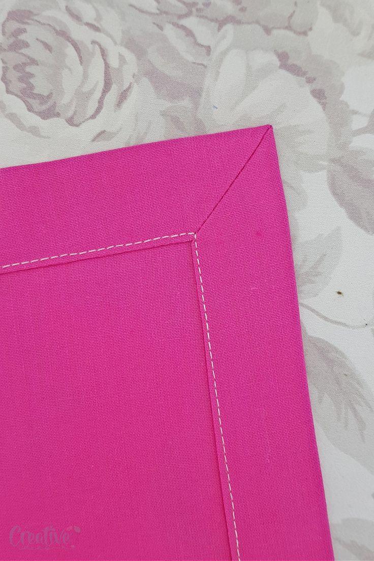 Sewing mitered corners