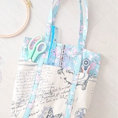 6 pocket tote bag sewing tutorial