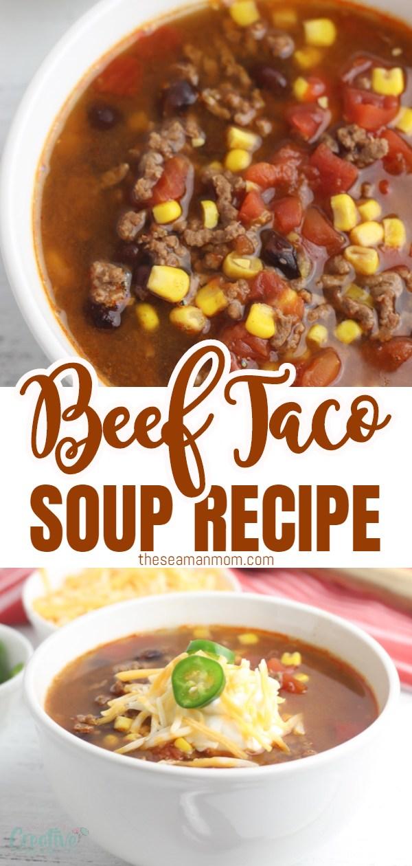 Beef taco soup recipe