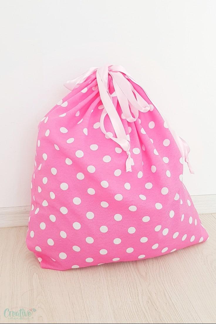DIY drawstring bag
