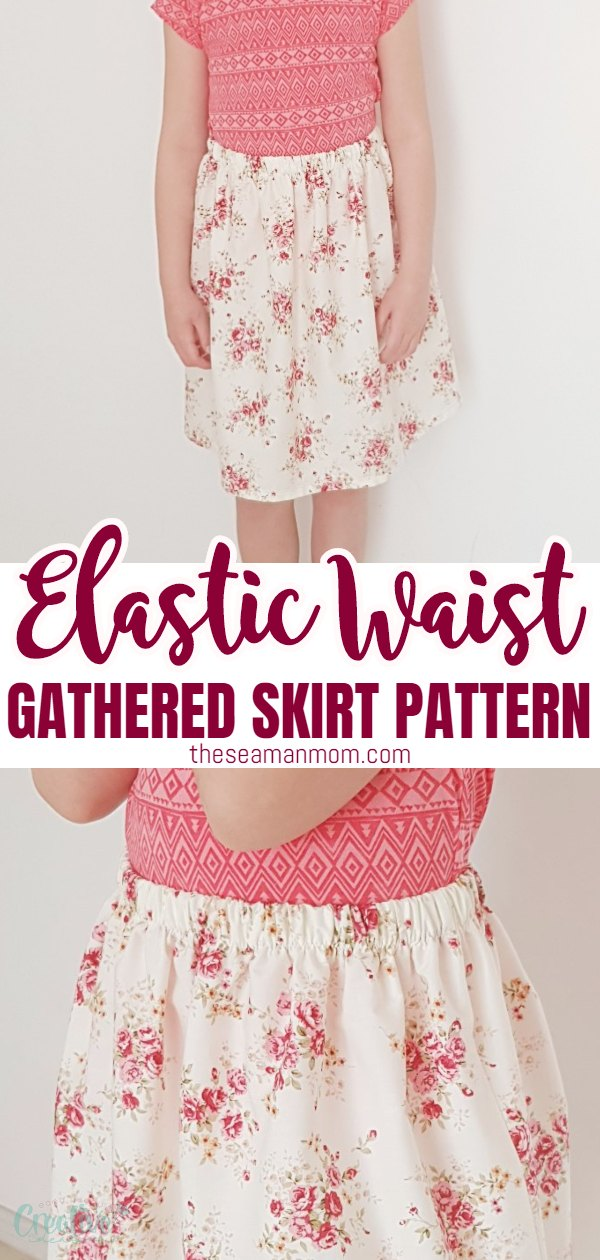 Do you have 20-30 minutes to spare? That's all you need to make this simple elastic waist skirt pattern, perfect project for beginners as well as kids starting to learn sewing! via @petroneagu