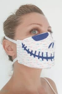 3D face mask pattern for Halloween