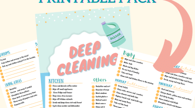 Printable deep cleaning checklist