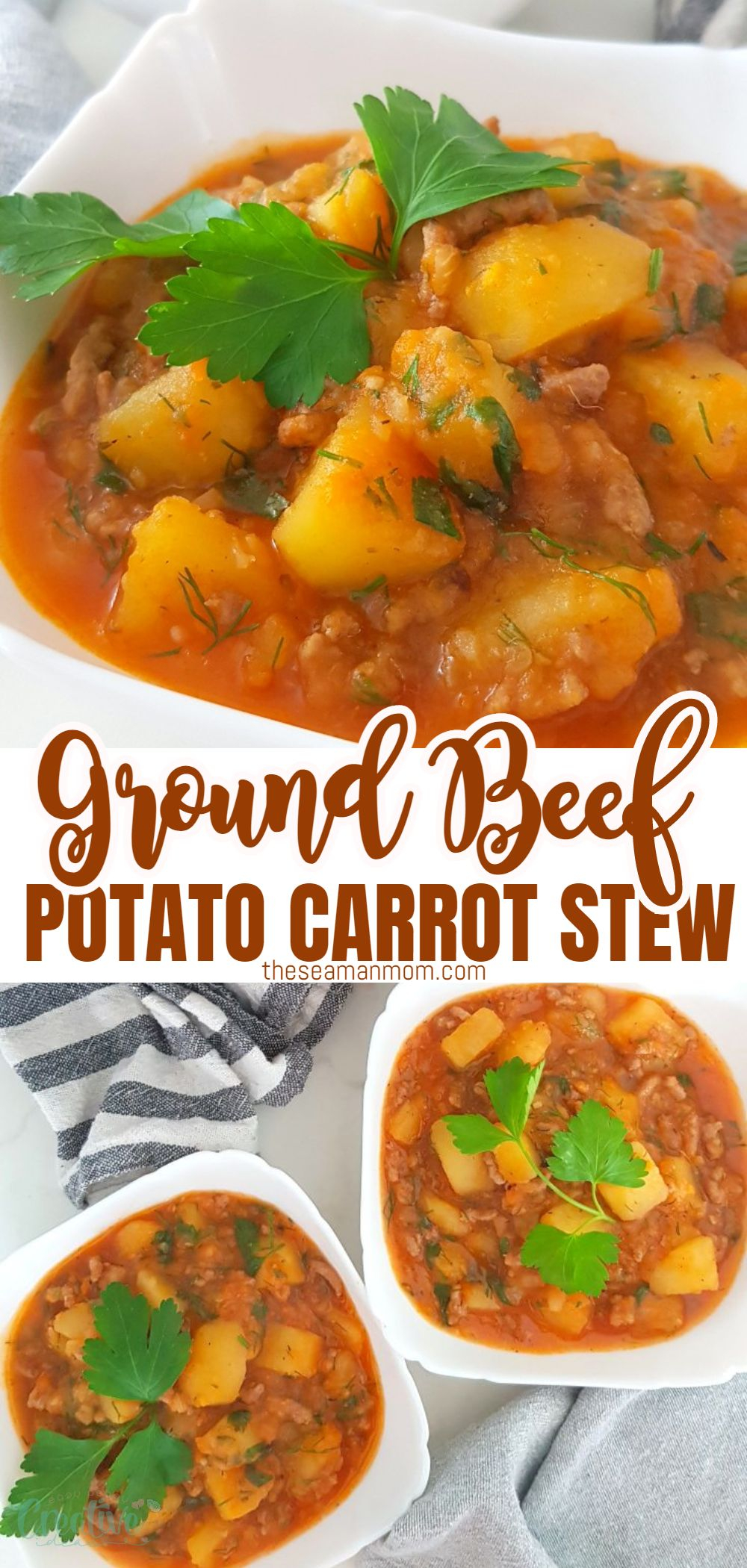 Need an amazing one-pot recipe to feed a crowd? This beef and potato stew is a delicious meal that is so easy to make! Everyone will love your beef stew with potatoes, carrots and onions and chances are, they'll be asking for seconds! via @petroneagu