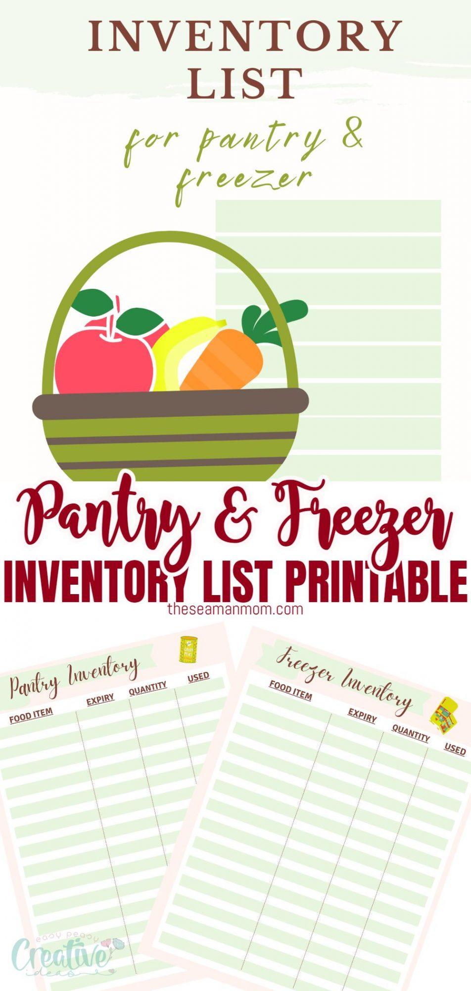 Pantry inventory printable