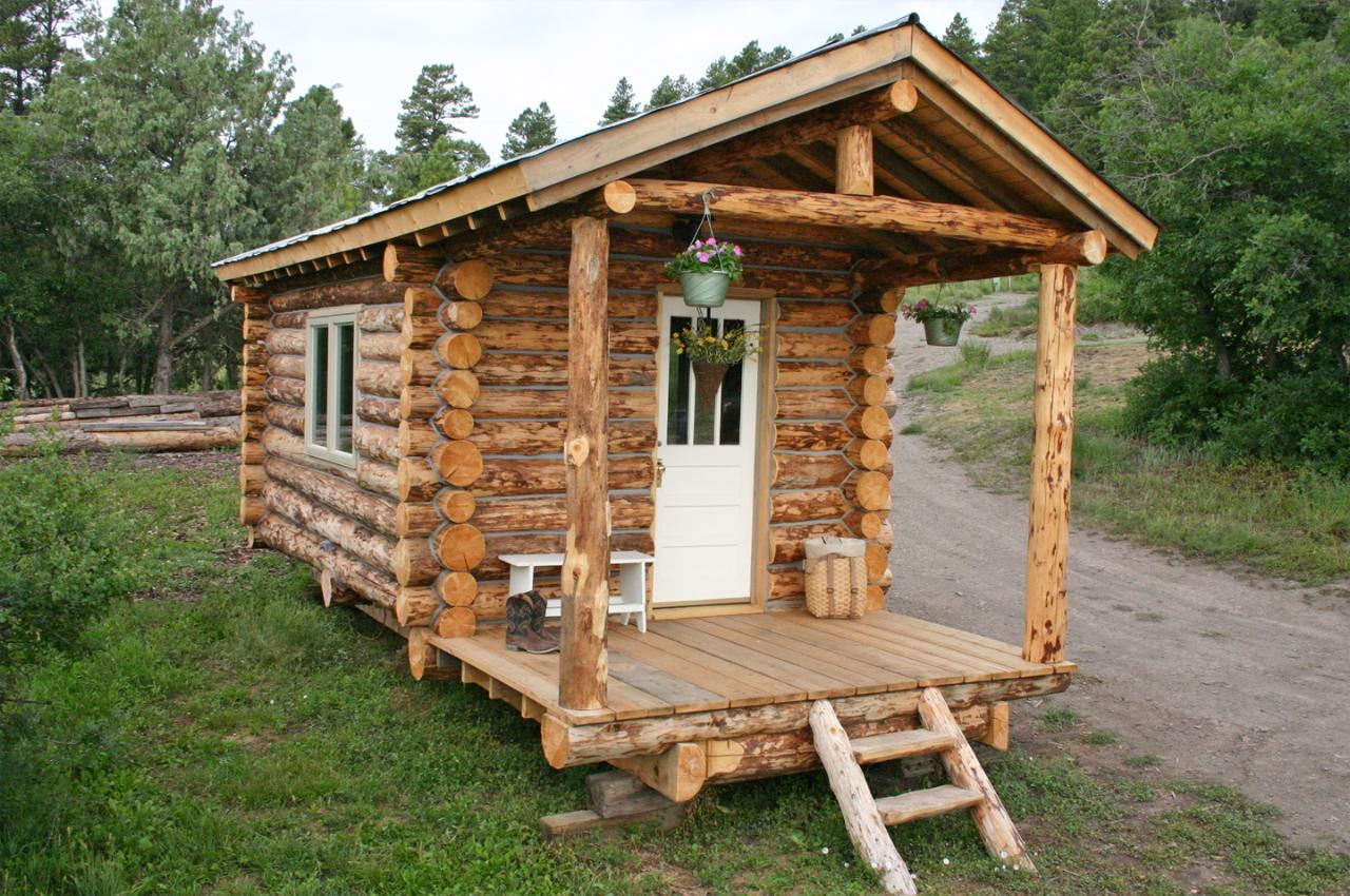 Home Built Log Cabin