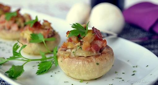 Appetizer Bacon Mushroom