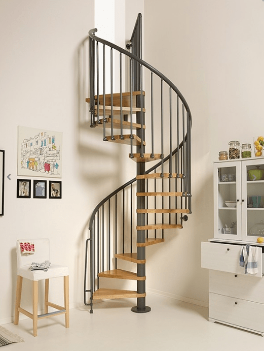 Oak70 Spiral Stair Kit The Staircase People Spiral Modular   Space Saving Spiral Staircase   Child Friendly   Do It Yourself Diy   Metal   Duplex House   Loft