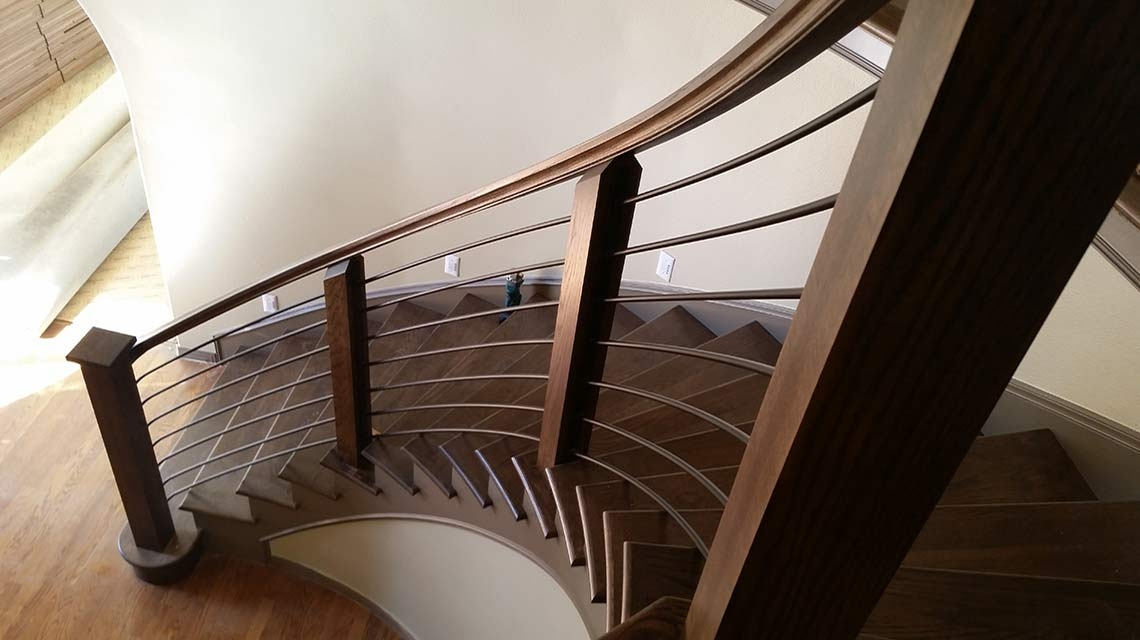 Custom Glass Metal And Wood Staircases The Stair Guyz | Steel And Wood Staircase | Glass | Custom | Handrail | Contemporary | Inside