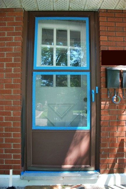 The Diy Files Painting A Screen Door The Sweetest Digs