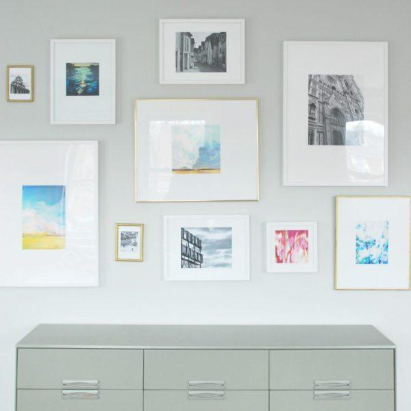 ikea ribba gallery wall layout # 83