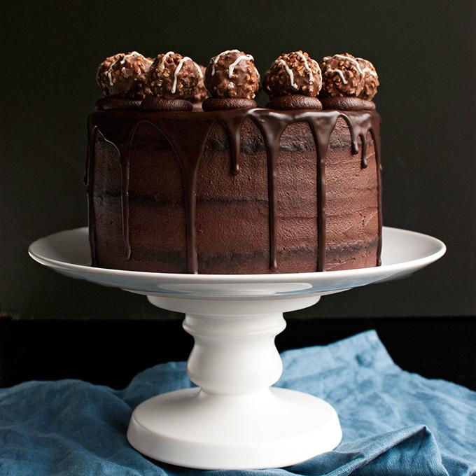 Triple Dark Chocolate Cake The Tough Cookie