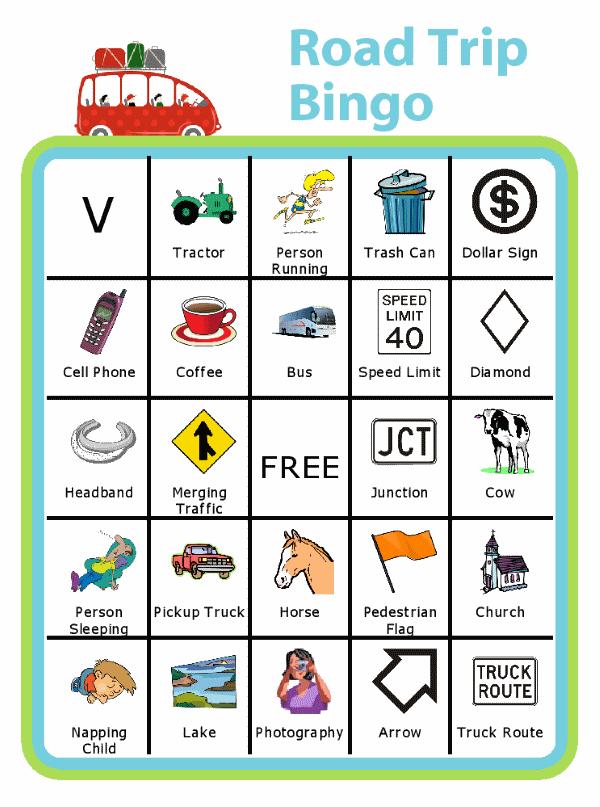Travel Bingo For Kids Car Bingo Airport Bingo