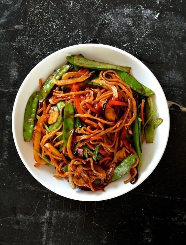 Vegetable Lomain Noodles