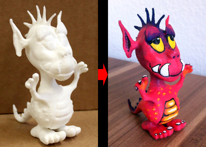 Painting 3d Printed Pla