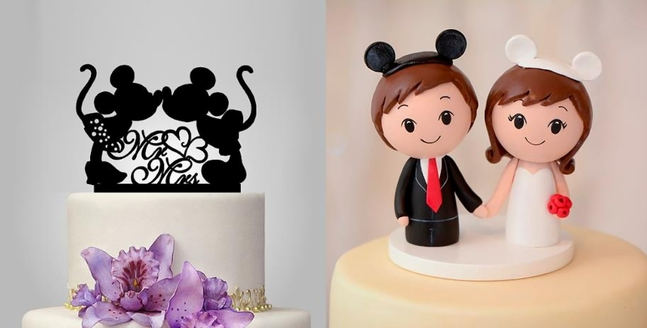 disney wedding cake  raquo  27 Magical Disney Wedding Cake Toppers   This Fairy Tale Life