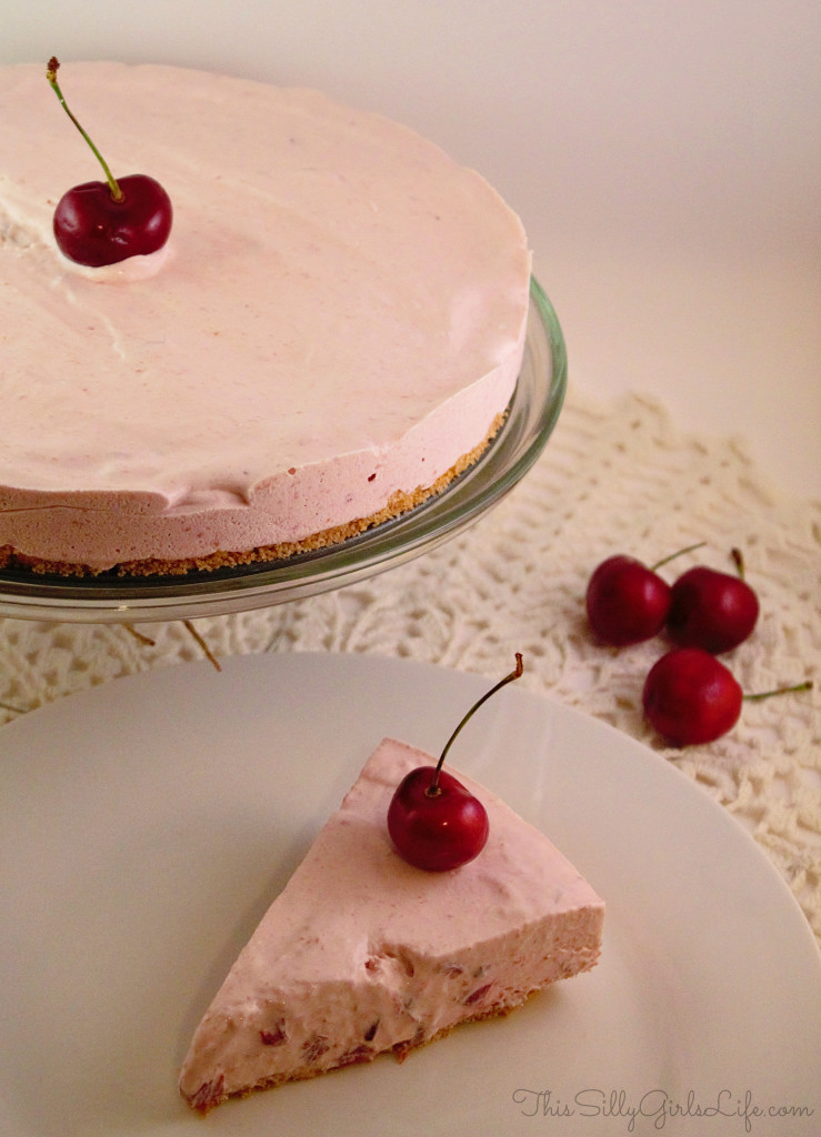 Cherry Icebox Cheesecake from https://ThisSillyGirlsLife.com