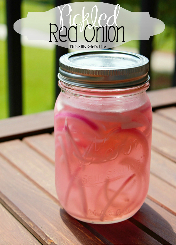 Pickled Red Onions recipe from https://ThisSillyGirlsLife.com super easy and adds a flavor explosion to any dish! #Pickled #RedOnions #Recipe