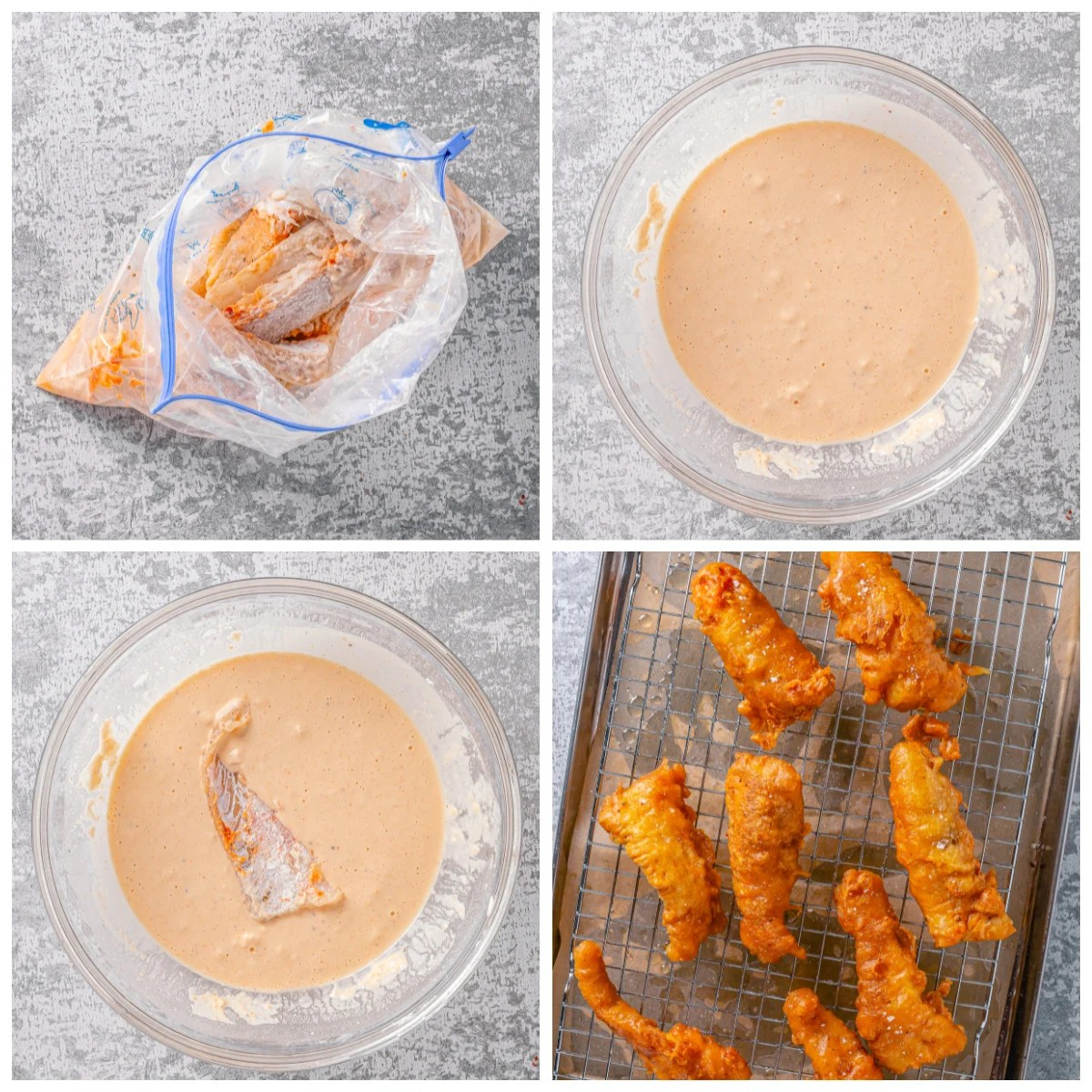 Step by step photos on how to make a Crunchy Battered Fish Recipe