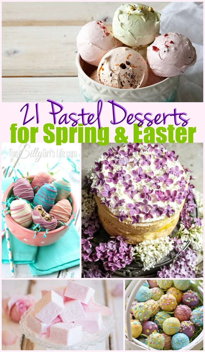 21 Pastel Desserts for Spring and Easter, a collection of beautiful desserts in pastel colors! - ThisSillyGirlsLife.com