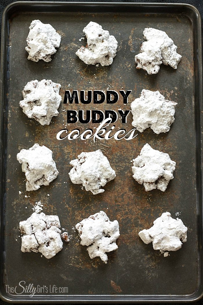 Muddy Buddy Cookies, exactly how they sound; chocolatey peanut buttery deliciousness... no bake, messy and totally worth it! - ThisSillyGirlsLife.com #muddybuddy #cookies #nobake