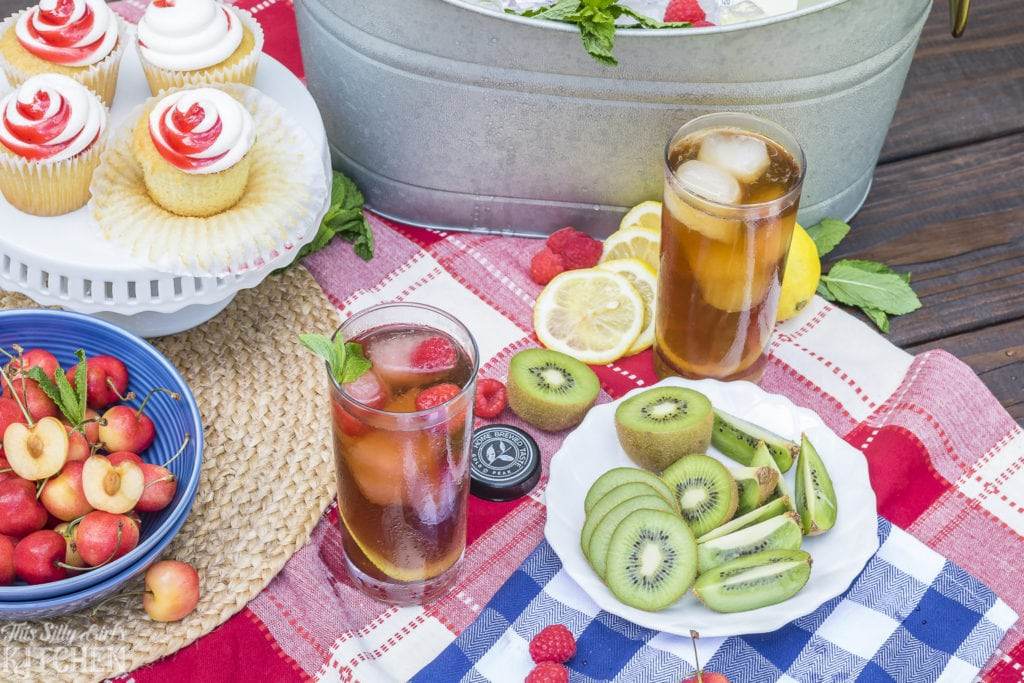 Lemonade Infused Iced Tea, a simple and refreshing summer or anytimebeverage! Recipe from ThisSillyGirlsKitchen.com
