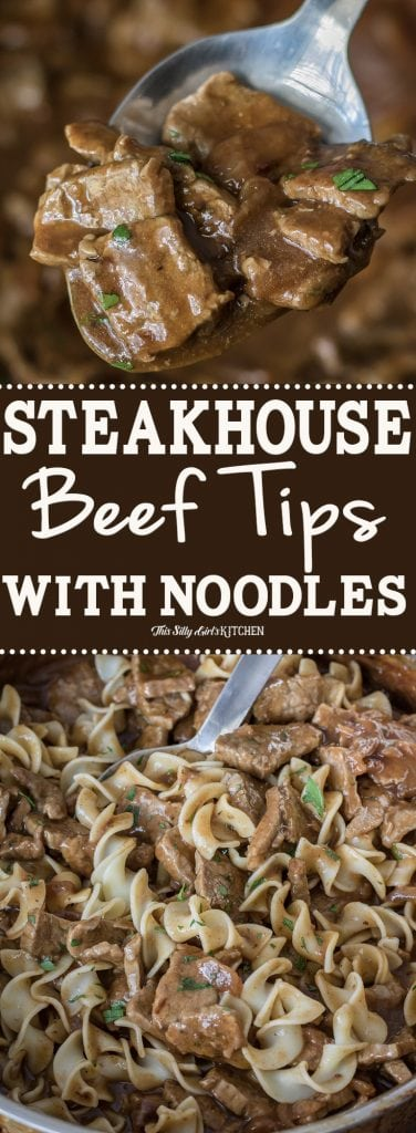 Steakhouse Beef Tips Collage