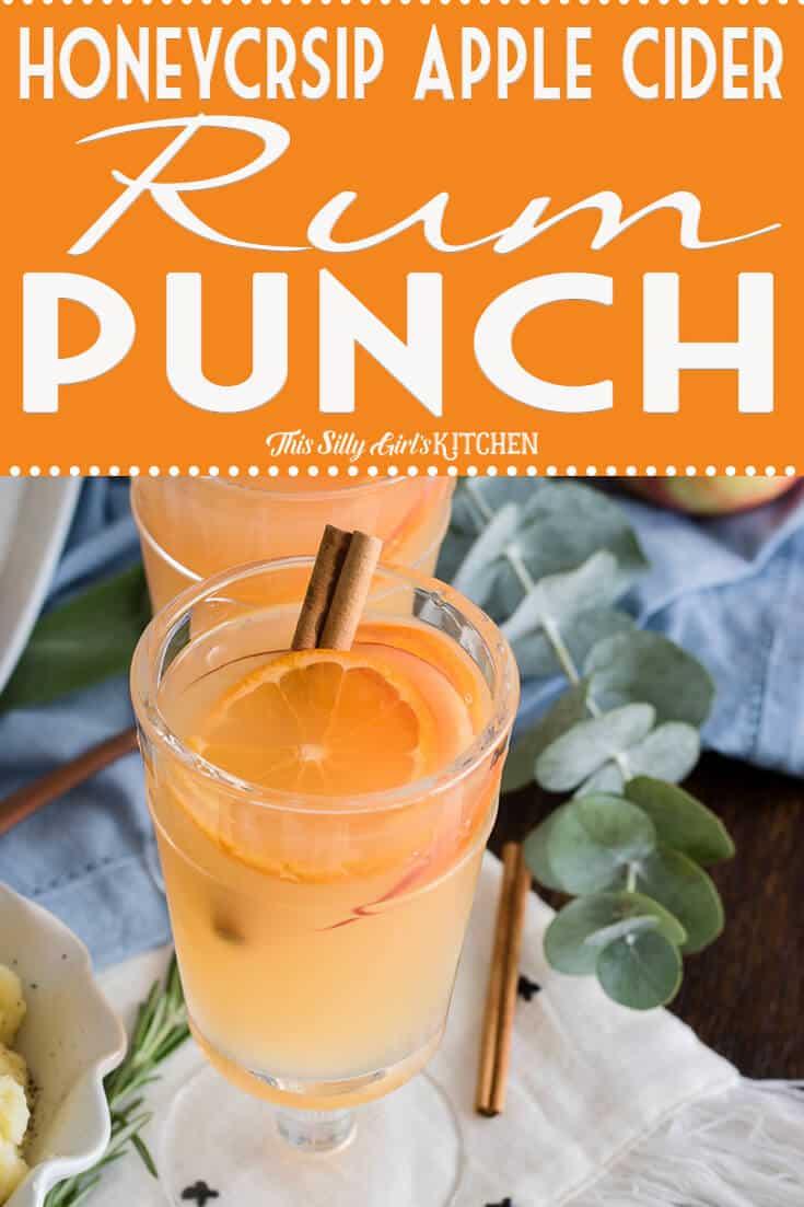 Honeycrisp Apple Cider Rum Punch in glass Pinterest Image
