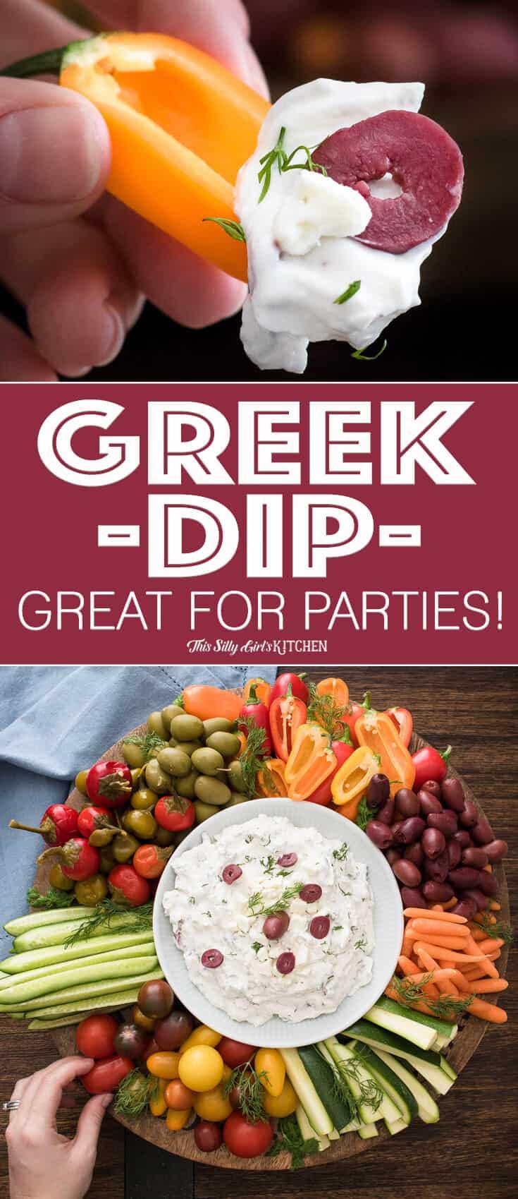 Collage image or Greek Yogurt Dip