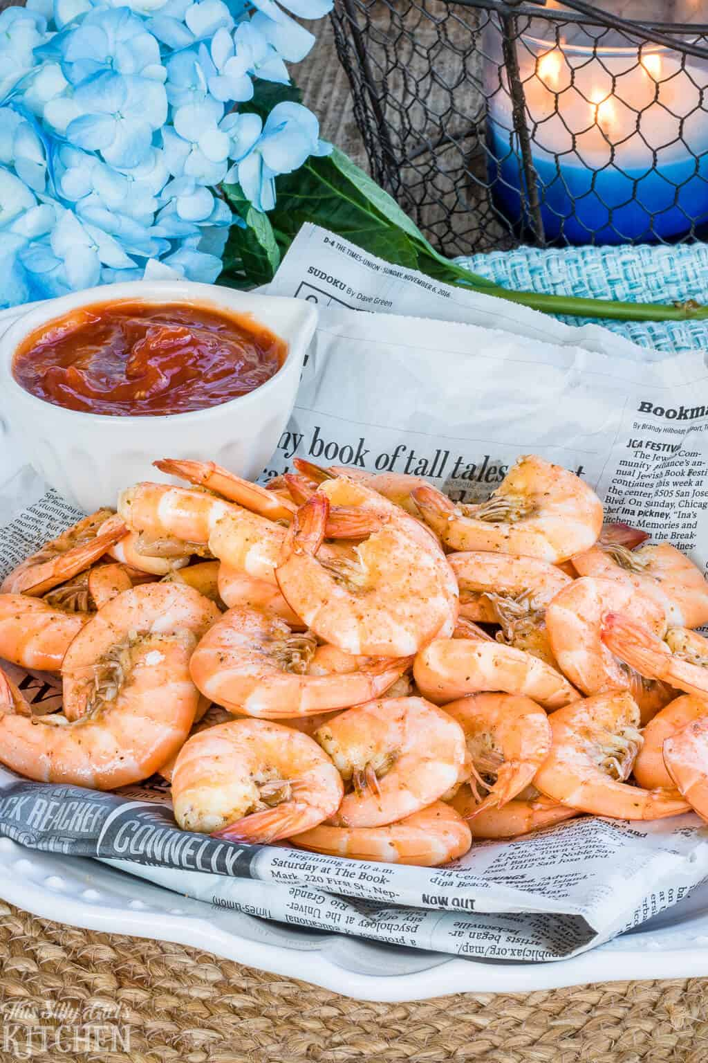 Shrimp Cocktail, boiled in a rich beer stock makes this one super flavorful shrimp cocktail!