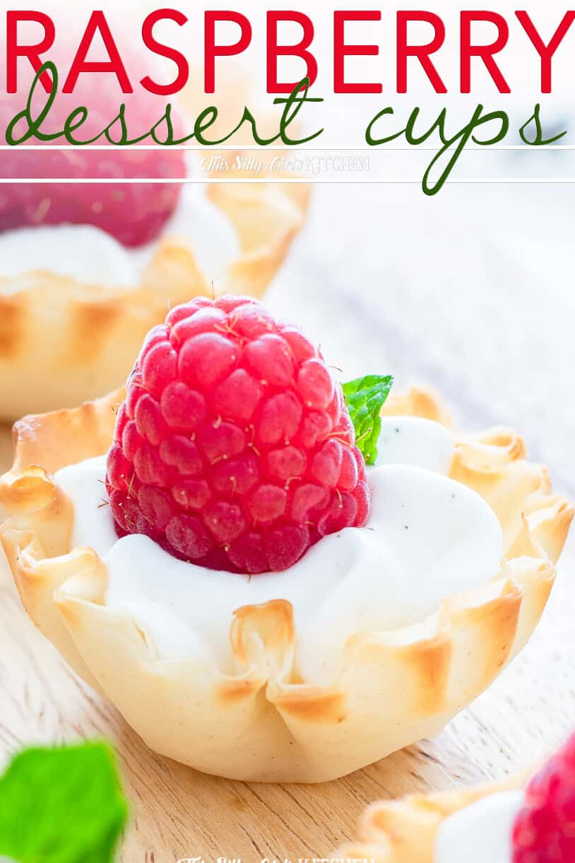 Raspberry Dessert Cups, a simple and easy make-ahead dessert perfect for entertaining! #recipe from thissillygirlskitchen.com #raspberry #dessert #raspberrydessert #whippedcream #lemon #raspberrylemon #raspberrydessertcups