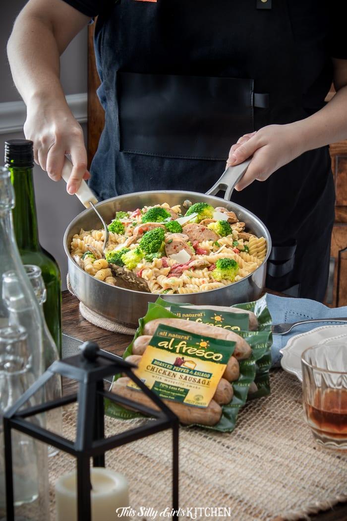 Chicken Broccoli Pasta from thissillygirlskitchen.com